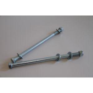 Achse für Kielrolle 6-Kantschraube M16 für Kielrollen Länge 200 mm