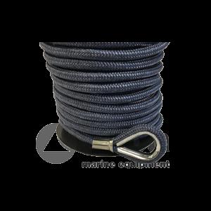 Polyester Blei-Ankerleine blau, 10mmx30m / Allpa