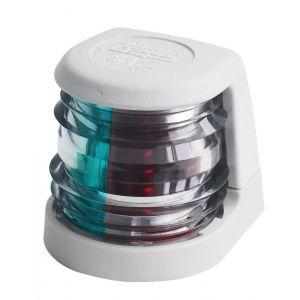 Navigationslicht Bicolor 12V 5W zweifarbig Serie 20 weißes Gehäuse / Aqua Signal