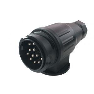 13 poliger Stecker Kunststoffstecker mit Bajonettverschluss für Pkw-Anhänger Bootstrailer