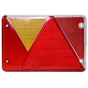 Lichtscheibe Ersatzglas rechts/links für Multipoint 4 IV Rücklicht Lichtglas Rückleuchte mit Dreieck / Aspöck