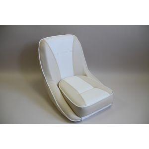 Steuerstuhl Bootssitz Komfort Steuermann Steuersitz weiß - creme