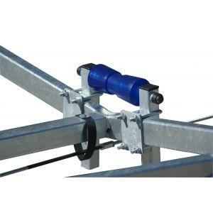 Kielrolle Polyvinyl (Metallkern) mit Vierkantrohr und Halterungen