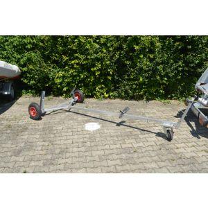 Trolly Handslipwagen Handtrailer Strandwagen zerlegbar mit Auflage für Dinghy Schlauchboot Segeljolle / Harbeck