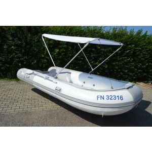 Schlauchboot Allpa Sens 420 inkl. Alu Boden, Zubehör und Biminitop / Gebraucht