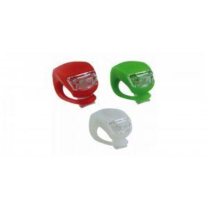 Fahrradlampe LED zum Klemmen Sicherheitslicht Silikon - verschiedene Ausführungen