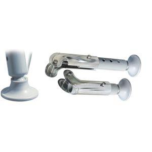 Teleskopische und einstellbare Füße mit Plastikbasis für Badeleiter