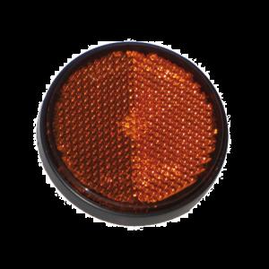 Rückstrahler Reflektor Rund Orange mit Gewinde Stift