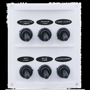 Wasserdichte elektrische Schalttafel mit sechs Schaltern Switch Panel