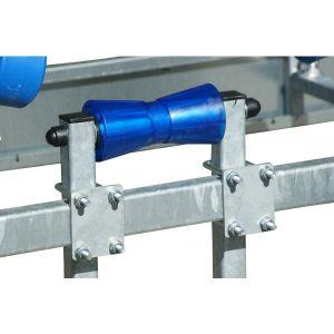 Set Kielrolle (Metallkern) mit Vierkantrohr und Halterung