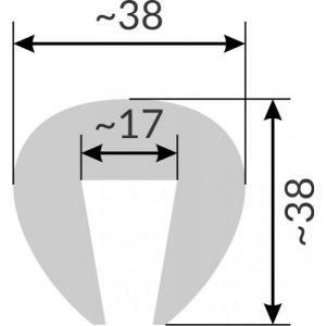 Kantenschutz G4 PVC Profil für Stoßkante weiß 10 Meter Länge