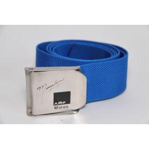 Tauchgurt Gewichtsgürtel Bleigurt Ballastgürtel Blau mit Edelstahlschnalle Unisex / Mares