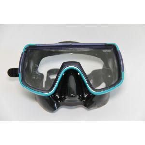 Taucherbrille Tauchbrille Brille Tauchmaske schwarz / mint / Tempered Glas zum Tauchen und Schnorcheln / Mares