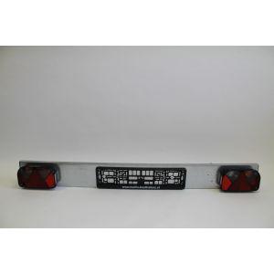 Lichtleisten Beleuchtungträger Leuchtentraverse 1450 mm mit Beschädigung komplett inkl. Mehrkammerleuchte für Bootstrailer / Marlin