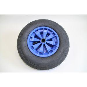Ersatzrad 4.80 / 4.00-8 Luftbereifung inkl. blauer Kunststoff Felge Komplettrad für Zentriereinheiten / Starco