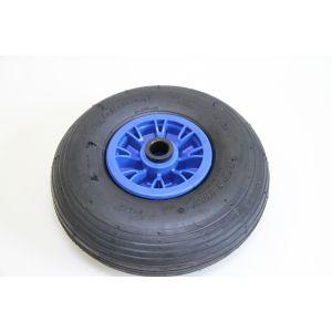Ersatzrad 3.00-4 Luftbereifung inkl. blauer Kunststoff Felge Komplettrad für Peilstangen und Zentriereinheiten / Starco