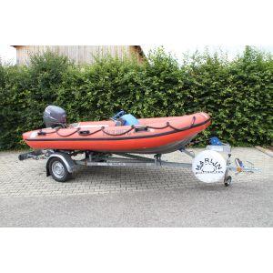 Schlauchboot DSB 390 SR inkl. Yamaha 40 PS Außenborder und Marlin Schlauchbootrailer