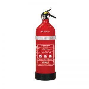 Feuerlöscher Trockenpulver ABC 2kg, Druckspeicher mit Halterung Lalizas