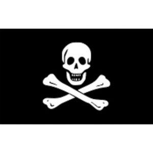 Flagge Pirat 30 x 45 cm, Piratenfahne / Lalizas