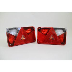 Rücklicht Rückleuchte rechts/links Multipoint 5 V, 12 V, 8-pol. Bajonett, mit Dreieck / Aspöck