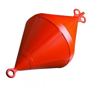 Ankerboje Bi-konisch UV-beständig Kunststoff Ø 220 mm orange / Lalizas