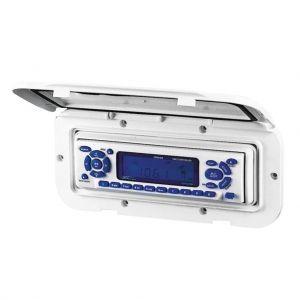 Gehäuse für Radio CD 110 x 235 mm weiß Radioabdeckung Universalblende / Lalizas
