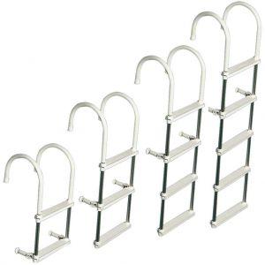 Osculati Badeleiter, 2 Stufen, Anticorodal-Rohr