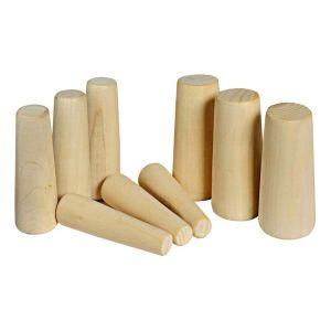 Notfallstopfen konisch groß aus Holz 9er Set 20 - 49 mm / Osculati