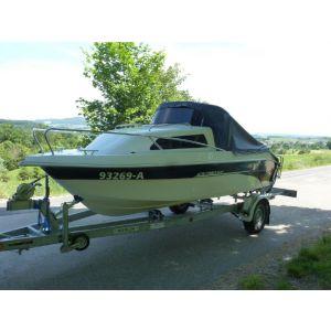 Kajütboot Searider 475 cabin fun inkl. Außenborder Mercury F40 Pro und Marlin Bootstrailer / Gebrauchtboot