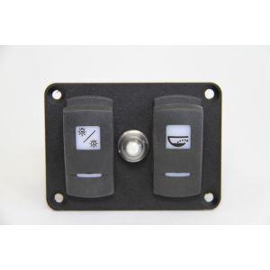 Schalttafel Wippschalter mit LEDs für Beleuchtung und Bilgepumpe