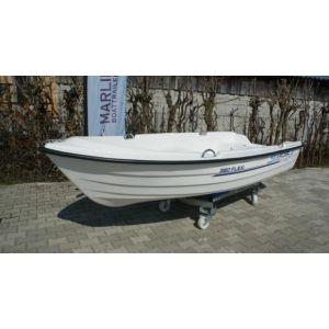 Komplettangebot Searider 380 Flexi Motorboot Freizeitboot inkl. Bootstrailer und Außenborder / Searider Marlin Mercury
