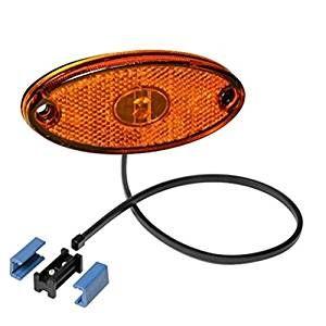 Seitenmarkierungsleuchte LED Leuchte Flatpoint 2 II Farbe orange inkl. DC Kabel / Aspöck