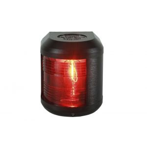 Navigationslicht Backbord Rot 12 Volt Serie 41 Gehäusefarbe schwarz Navigationslampe zur Seiten oder Mastmontage / Aqua Signal