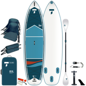 SUP-YAK Air 11'6 Beach vKayak aufblasbares Hybrid SUP-Kayak Paket für 2 Personen / Tahe