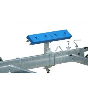 2x Langauflagen 60 cm  montiert auf U-Profil mit Kreuzgelenk und Drehkurbel Spindel