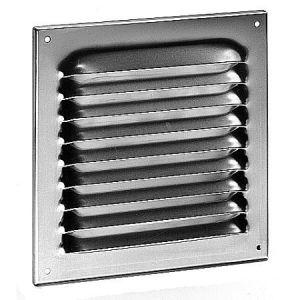 Wetterschutzgitter aus Aluminium mit Fliegengitter 20 x 15 cm