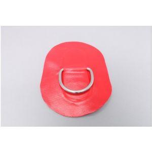D-Ring 53 mm oval PVC Beschlag Applikation rot für Schlauchboote Z6803 / Zodiac
